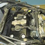 Provedeno vyčištění a přetěsnění víka motoru