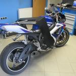 Diagnostika rámu motocyklu Suzuki laserovým přístrojem mega – m.a.x. Scheibner