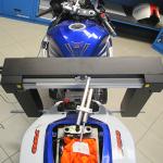 Měření rámu motocyklu Suzuki laserovým přístrojem Mega m.a.x. od firmy Scheibner