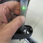 HD - měření brzdové kapaliny zadní brzdy po výměně