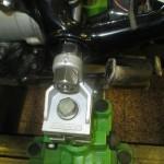Úprava rámu motocyklu - upevnění na rovnací stolici MOTOJIG - detail