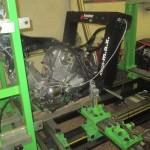 Kontrolní měření motocyklu - upevnění na rovnací stolici MOTOJIG - měření laserem Mega m.a.x.